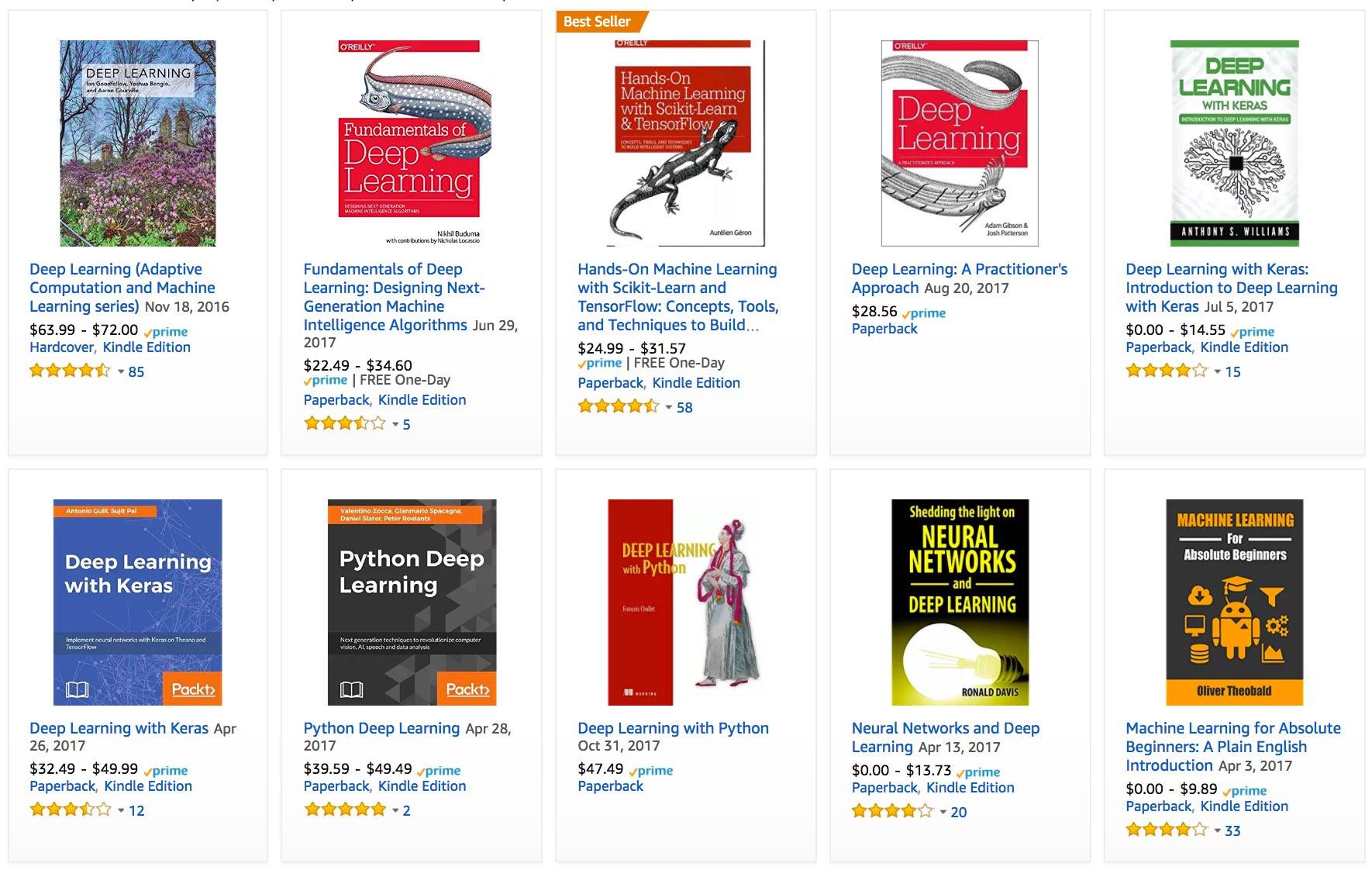 亚马逊推荐的深度学习书籍